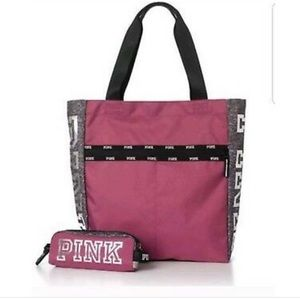 NWT VICTORIA SECRET PINK TOTE IN PINK
